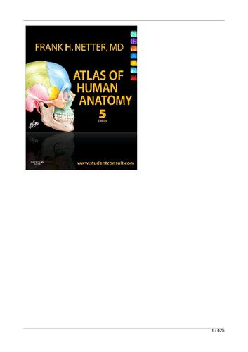Netters Atlas Of Human Anatomy 5th Ed Sade E Autonomia