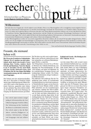Recherche Output #1 - Frankfurt (Oder)