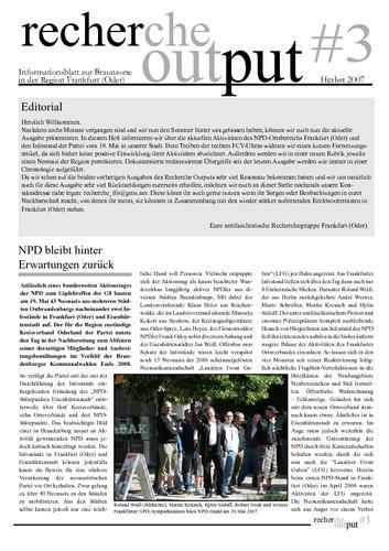 Recherche Output #3 - Frankfurt (Oder)