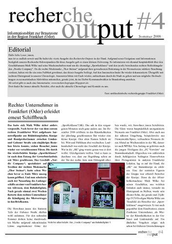 Recherche Output #4 - Frankfurt (Oder)