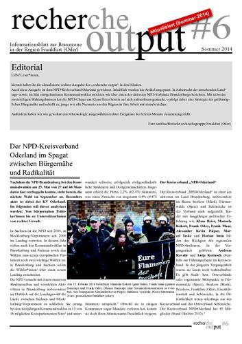Recherche Output #6 - Frankfurt (Oder)