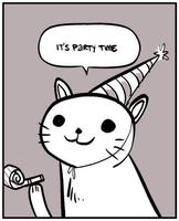 Party cat party time medium