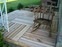 Wooden pallets decking for gardens medium