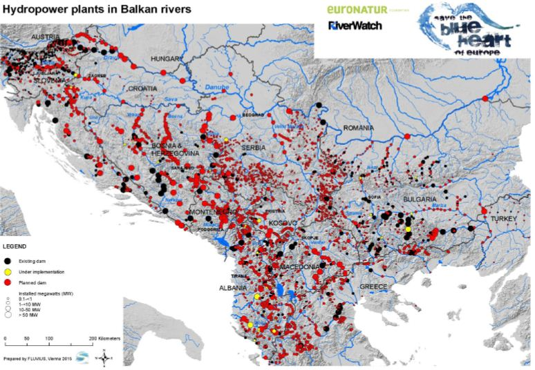 hydropower dams in balkan