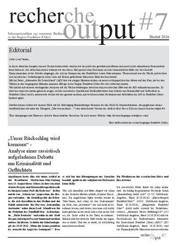 Recherche Output #7 - Frankfurt (Oder)