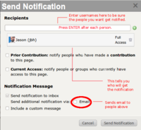 Notification medium