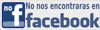 No nos encontrarás en facebook
