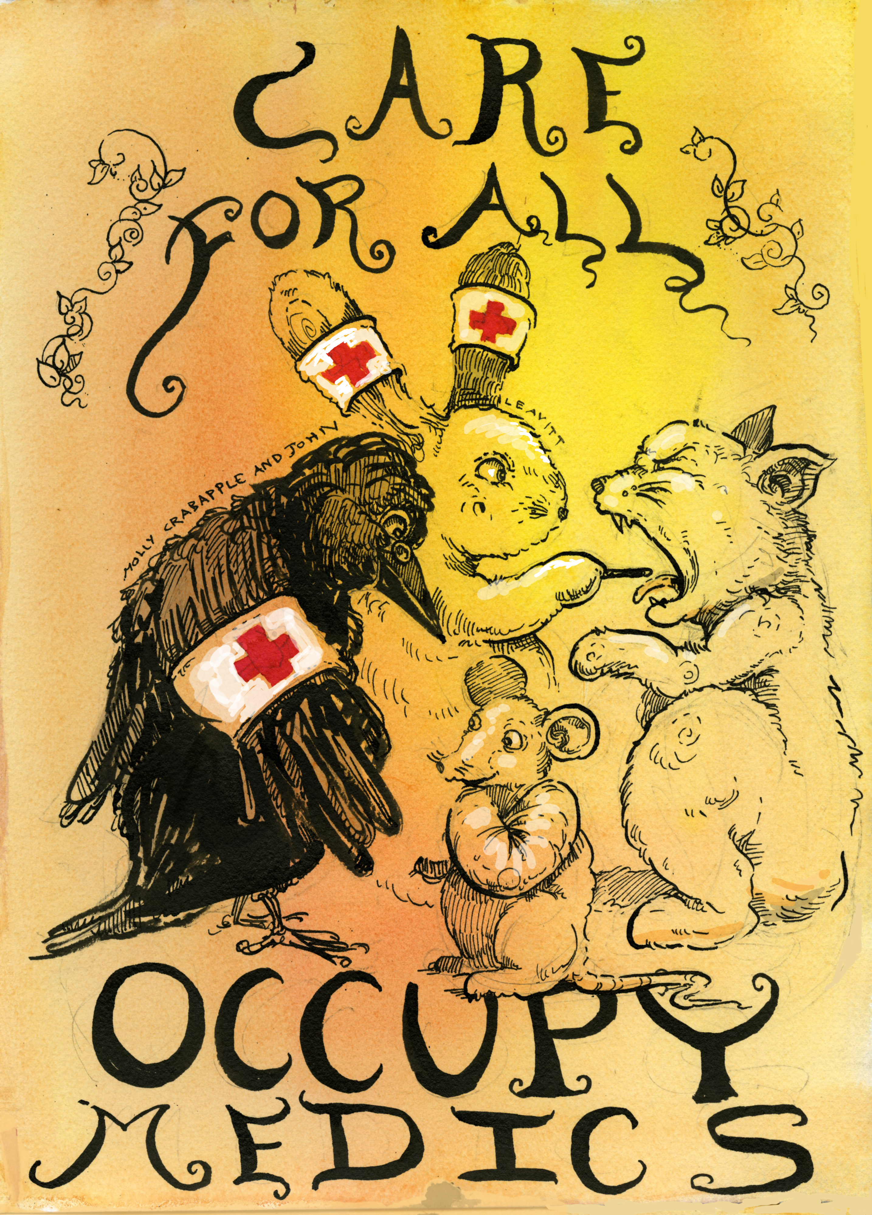Occupy Wall Street Medics - The Art of Molly Crabapple