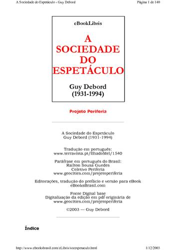 Debord%2c+guy+sociedade+do+espet%c3%a1culo large